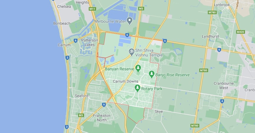 Carrum Downs map area