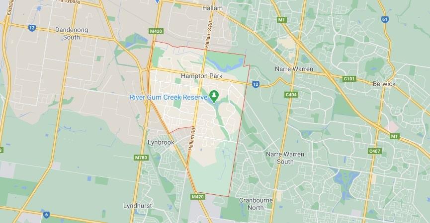 Hampton Park map area