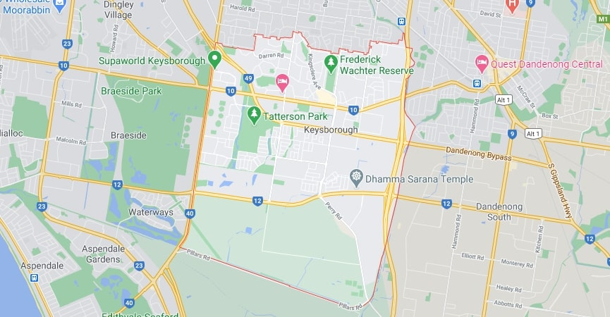 Keysborough map area