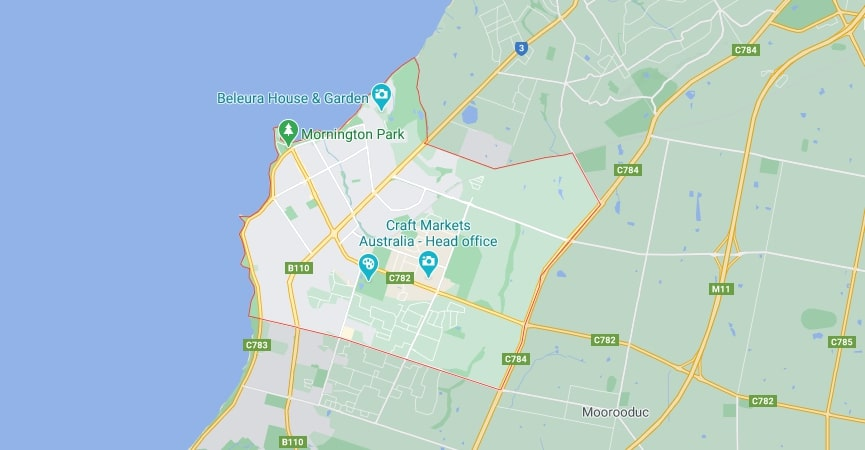 Mornington map area